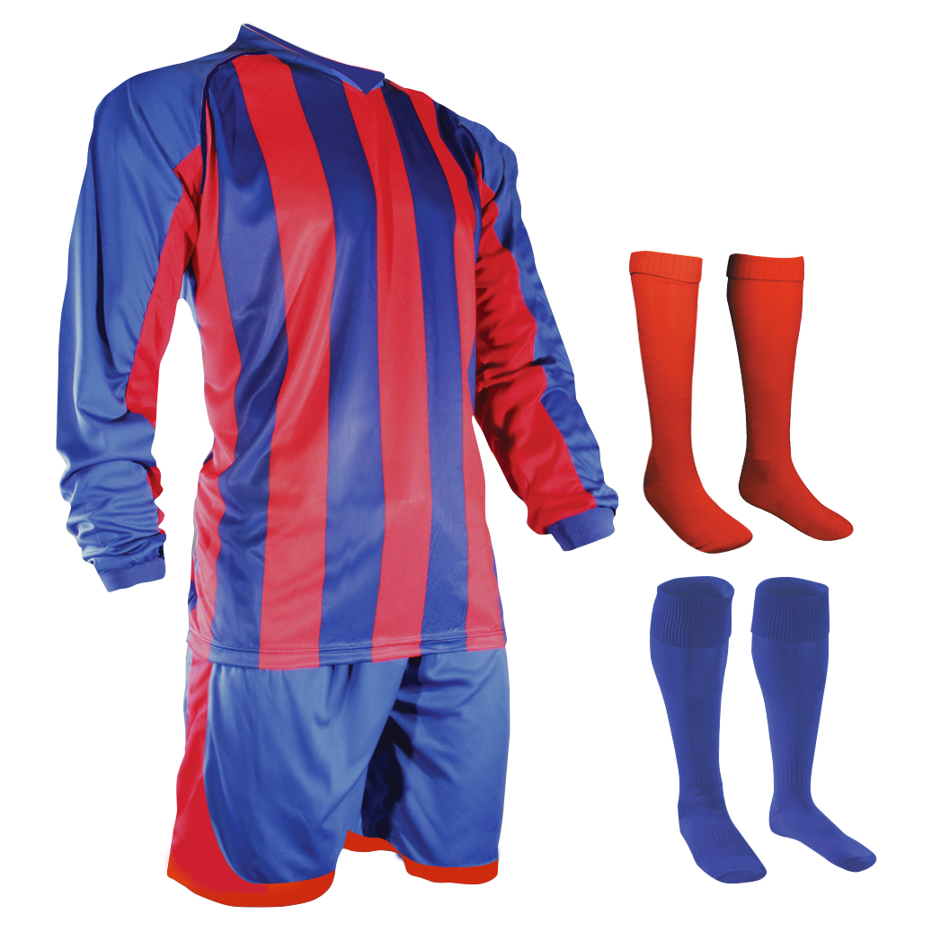 unbranded stripe kit in blue and red